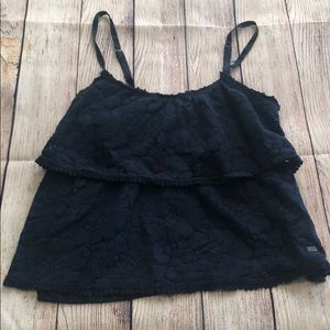Navy Lace Tank Top